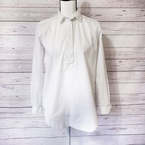 Loft Softened shirt long sleeve white Size XS